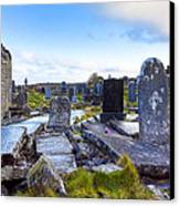 The Seven Churches Ruins On Inis Mor Canvas Print by Mark E Tisdale