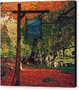 The Sign Of Fall Colors Canvas Print by Jeff Folger