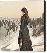 The Skater Canvas Print by Edward John Gregory