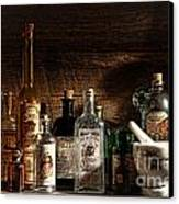 The Snake Oil Shop Canvas Print by Olivier Le Queinec