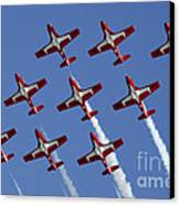 The Snowbirds Keeping It Tight Canvas Print by Bob Christopher
