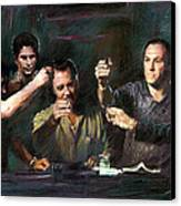 The Sopranos Canvas Print by Viola El