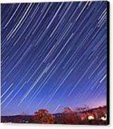 The Star Trail In Ithaca Canvas Print by Paul Ge