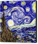 The Starry Night Reimagined Canvas Print by Adam Romanowicz