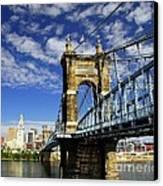 The Suspension Bridge Canvas Print by Mel Steinhauer