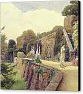 The Terrace At Berkeley Castle Canvas Print by George Samuel Elgood