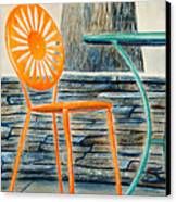 The Terrace Chair Canvas Print by Thomas Kuchenbecker