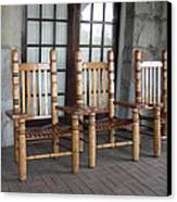 The Three Chairs Canvas Print by Denyse Duhaime