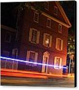 The Todd House Philadelphia Canvas Print by Christopher Woods