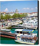 The Town And Port Of La Rochelle Canvas Print by Nila Newsom