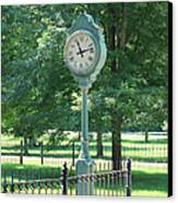 The Town's Clock Canvas Print by Brenda Donko