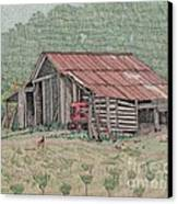 The Tractor Barn Canvas Print by Calvert Koerber