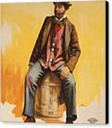 The Tramp Balladist Canvas Print by Aged Pixel