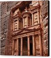 The Treasury In Petra Jordan Canvas Print by Robert Preston