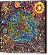 the UNIVERSE mandala Canvas Print by DiNo