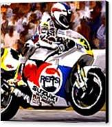 The Unleashing   Kevin Schwantz Canvas Print by Iconic Images Art Gallery David Pucciarelli