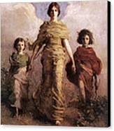 The Virgin Canvas Print by Abbott Handerson Thayer