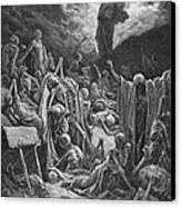 The Vision Of The Valley Of Dry Bones Canvas Print by Gustave Dore