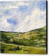 The Walk Down Horsetooth Mountain Canvas Print by Maureen Carrigan