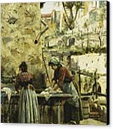 The Washerwomen Canvas Print by Peder Monsted