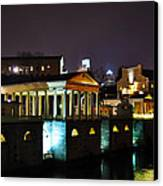 The Waterworks At Night Canvas Print by Bill Cannon