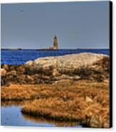 The Whaleback Lighthouse Canvas Print by Joann Vitali