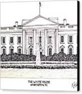 The White House Canvas Print by Frederic Kohli