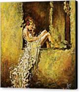 The Window Canvas Print by Karina Llergo