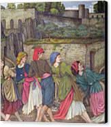 The Women Of Sorrento Canvas Print by John Roddam Spencer Stanhope