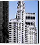 The Wrigley - A Building That Is Pure Chicago Canvas Print by Christine Till