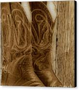 These Boots Were Made For Canvas Print by Cheryl Young