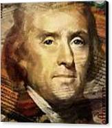 Thomas Jefferson Canvas Print by Corporate Art Task Force