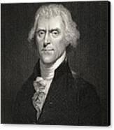 Thomas Jefferson Canvas Print by English School