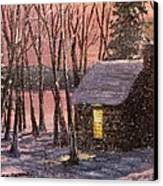 Thoreau's Cabin Canvas Print by Jack Skinner