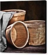 Three Basket Stil Life Canvas Print by Tom Mc Nemar