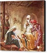 Three Kings Worship Christ Canvas Print by William Brassey Hole