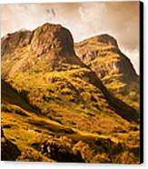 Three Sisters. Glencoe. Scotland Canvas Print by Jenny Rainbow