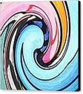 Three Swirls Canvas Print by Helena Tiainen