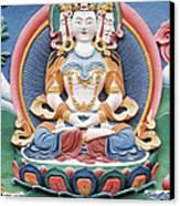 Tibetan Buddhist Temple Deity Sculpture Canvas Print by Tim Gainey