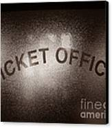 Ticket Office Window Canvas Print by Olivier Le Queinec