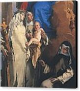 Tiepolo Giambattista, Virgin Appearing Canvas Print by Everett