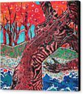 Tiger Lady Canvas Print by Diane Fine