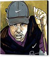 Tiger Woods Canvas Print by Dave Olsen