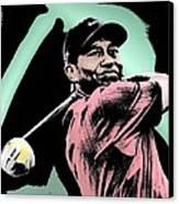 Tiger Woods Canvas Print by Tanysha Bennett-Wilson