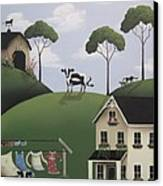 Till The Cows Come Home Canvas Print by Catherine Holman