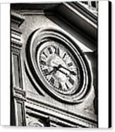 Time In Black And White Canvas Print by Brenda Bryant