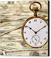 Time Is Over Money Canvas Print by Olivier Le Queinec