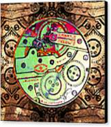 Time Machine 20130606 Square Canvas Print by Wingsdomain Art and Photography
