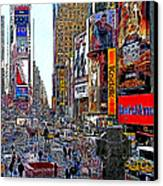 Time Square New York 20130503v4 Canvas Print by Wingsdomain Art and Photography
