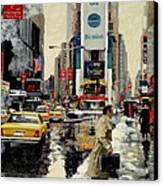 Times Square Canvas Print by Michael Swanson